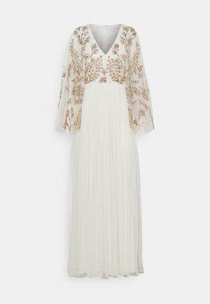 KIMONO SLEEVE EMBELLISHED DRESS - Iltapuku - white