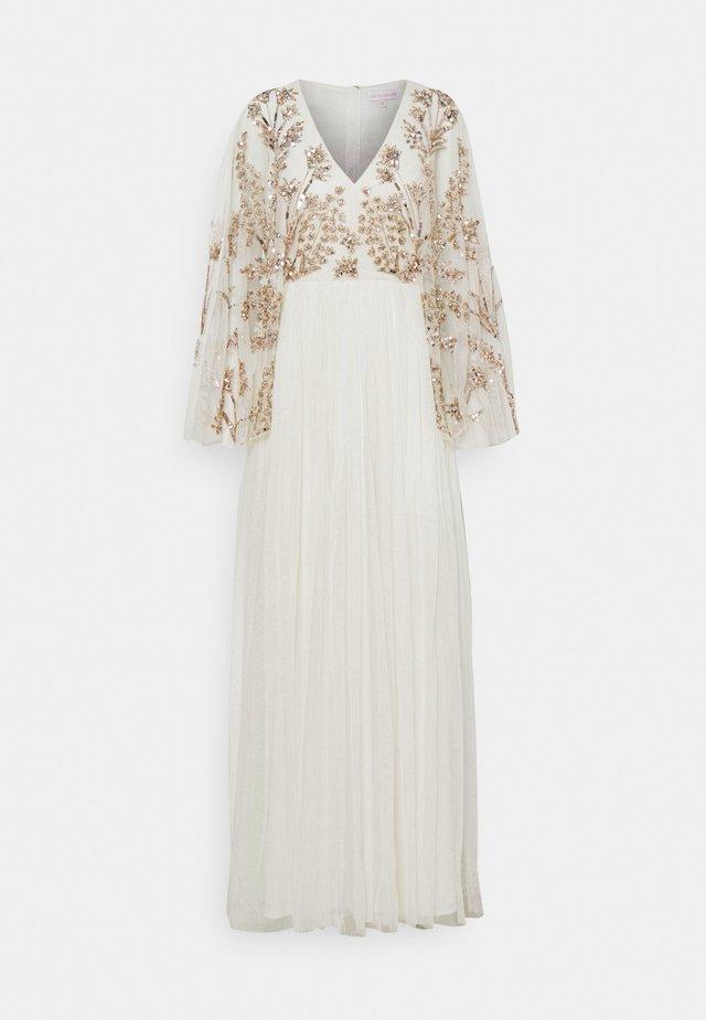 KIMONO SLEEVE EMBELLISHED DRESS - Vestido de fiesta - white