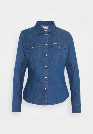 SLIM WESTERN - Button-down blouse - blueprint