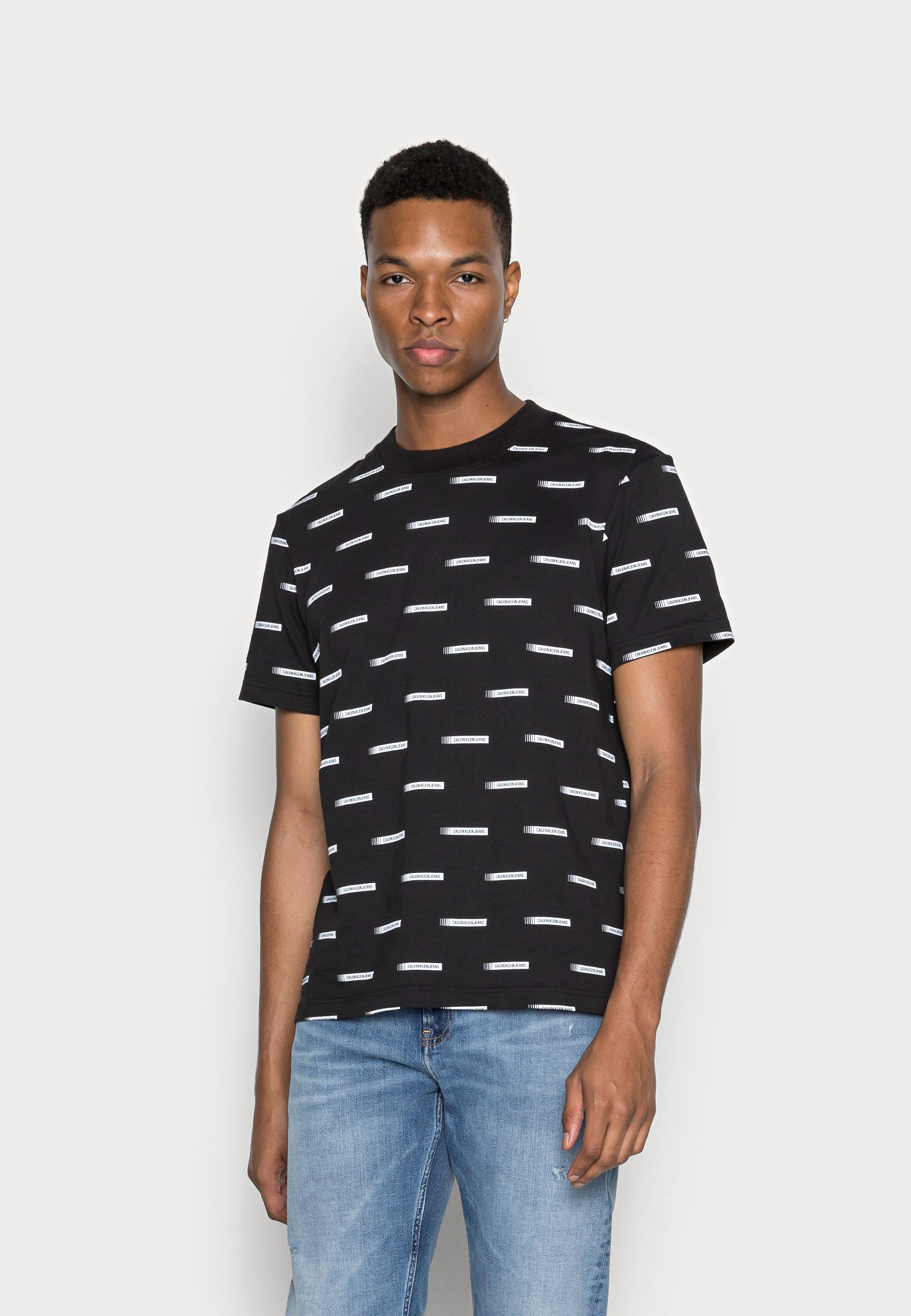 Men INSTITUTIONAL BOX LOGO TEE - Print T-shirt