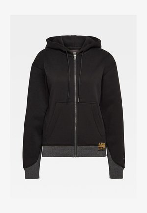 PREMIUM CORE HOODED ZIP THRU LONG SLEEVE - Zip-up hoodie - dk black