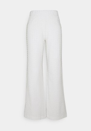 SLFBUBBLE PANTS - Tracksuit bottoms - snow white