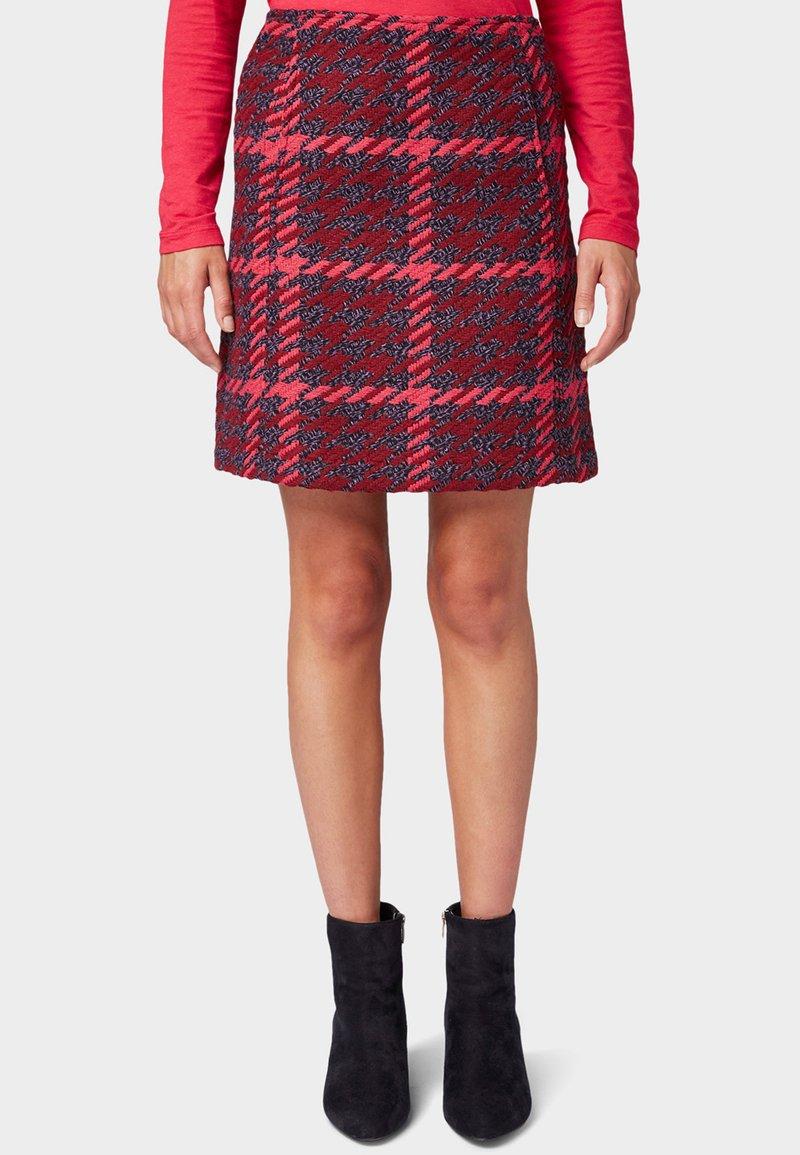 TOM TAILOR - ROCK - A-line skirt - red pink