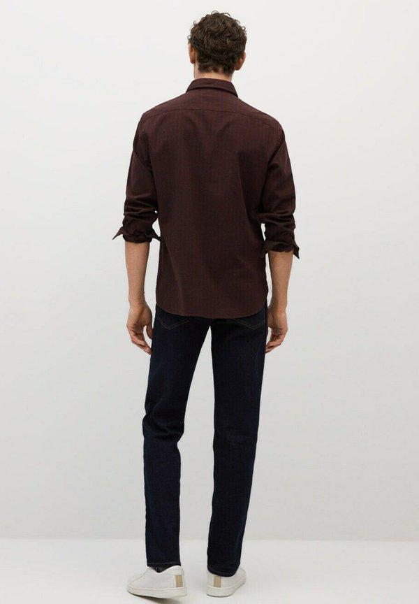 Mango Koszula - granatrot/bordowy Odzież Męska VPIS