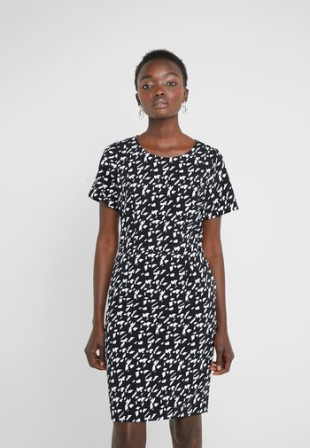 KAJESSI - Day dress - black/white