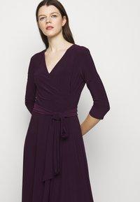 Lauren Ralph Lauren - MID WEIGHT DRESS - Trikoomekko - raisin - 3