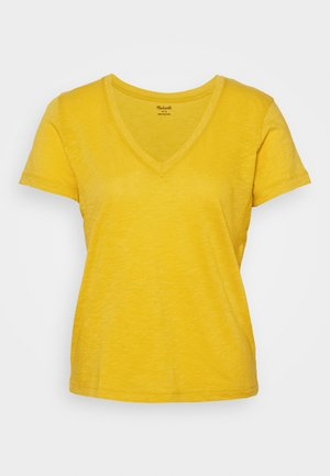 MWELL WHISPER V NECK TEE - Basic T-shirt - nectar gold