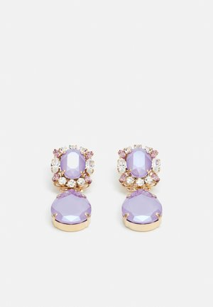 OMEGA CLASP CLUSTER WITH DROP - Earrings - lilac