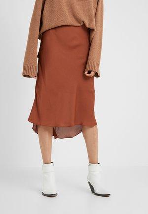 LAURA SKIRT - Gonna a campana - mahogany
