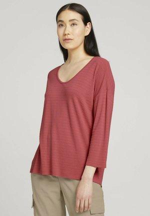3/4 ARM MIT STRUKTUR - T-shirt à manches longues - dusty pastel pink