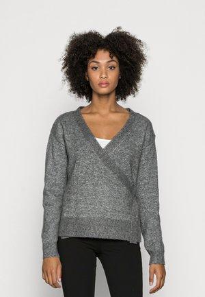 LOOSE FIT WRAP  - Džemperis - mottled dark grey