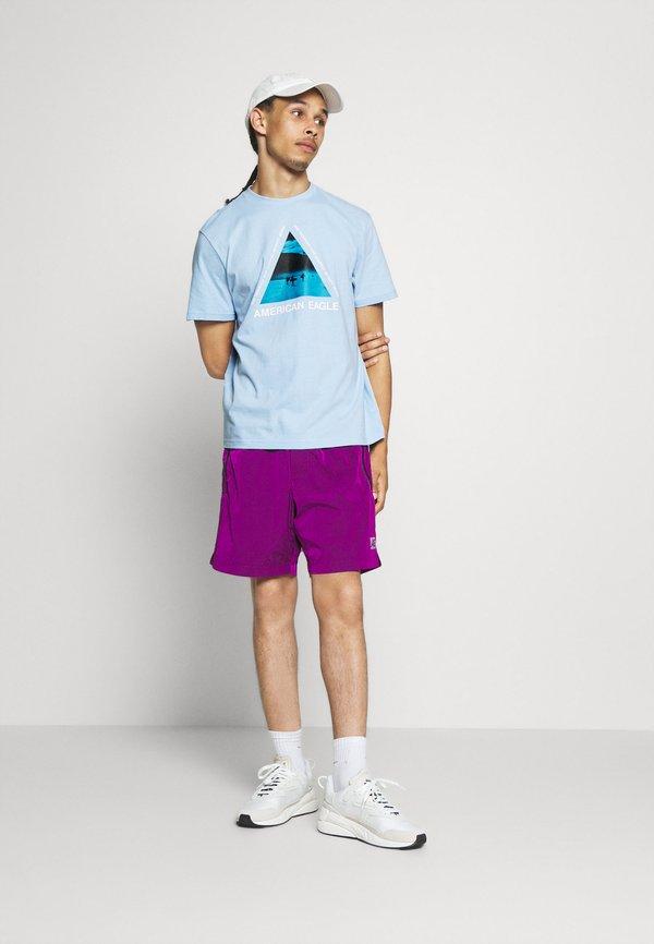 American Eagle UNISEX SET IN TEE CORE BRAND - T-shirt z nadrukiem - blue breeze Nadrukowane zdjęcie Odzież Damska RESR RS 3