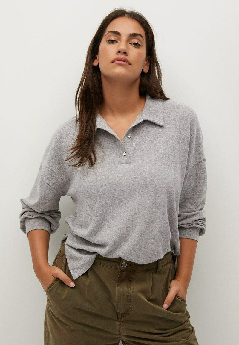 Violeta by Mango - ATHUR - Polo shirt - grau