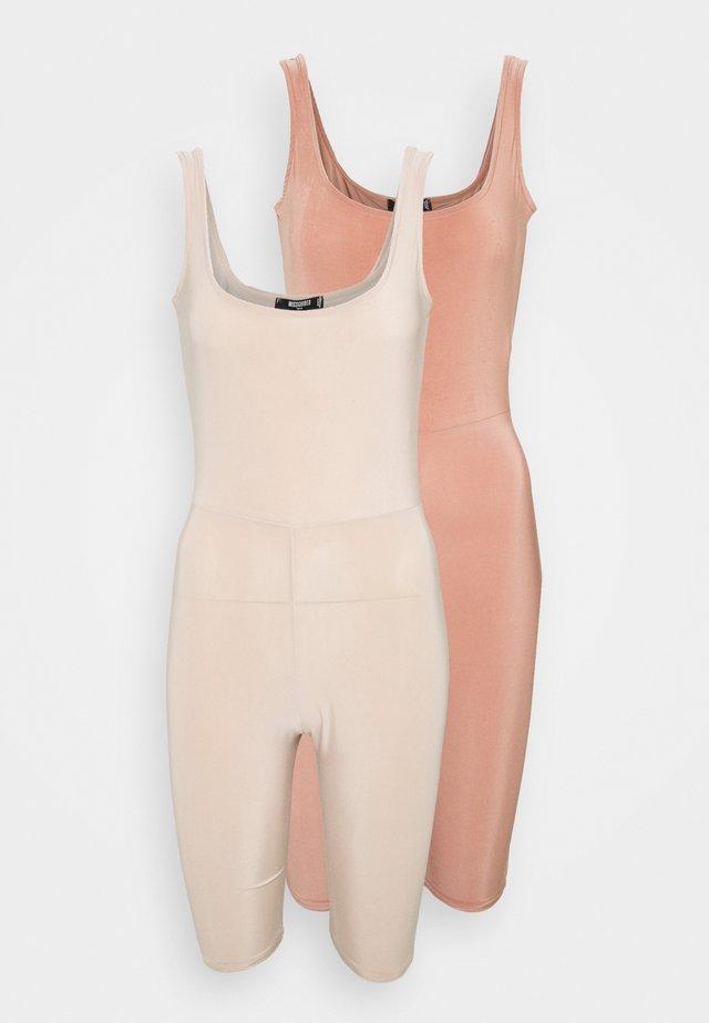 SLINKY SCOOP NECK UNITARD 2 PACK - Jumpsuit - blush/sand