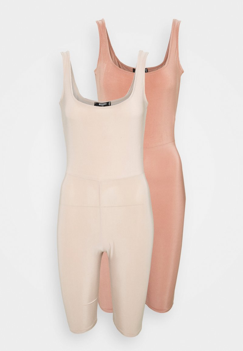 Missguided Tall - SLINKY SCOOP NECK UNITARD 2 PACK - Jumpsuit - blush/sand