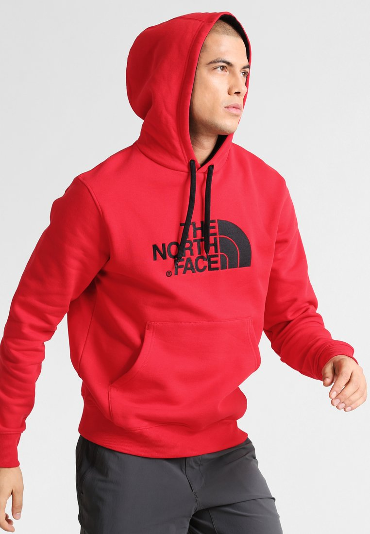 The North Face - DREW PEAK - Mikina s kapucí - red