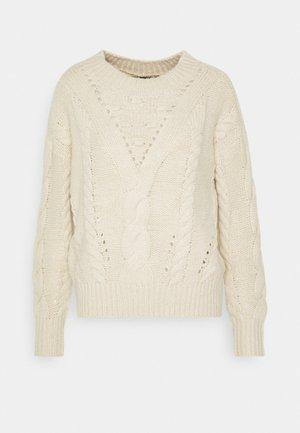 VMPACA CABLE - Jersey de punto - birch/white melange