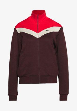 Zip-up hoodie - pruneau/marten corrida
