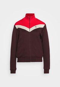 Lacoste - Zip-up sweatshirt - pruneau/marten corrida - 3