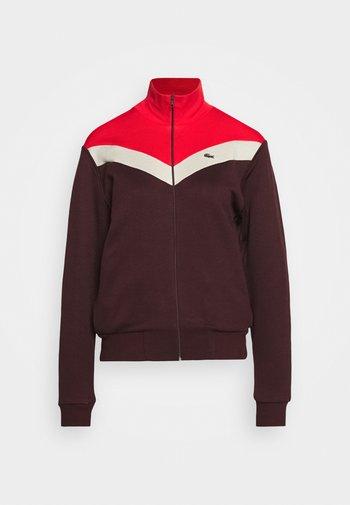 Zip-up sweatshirt - pruneau/marten corrida