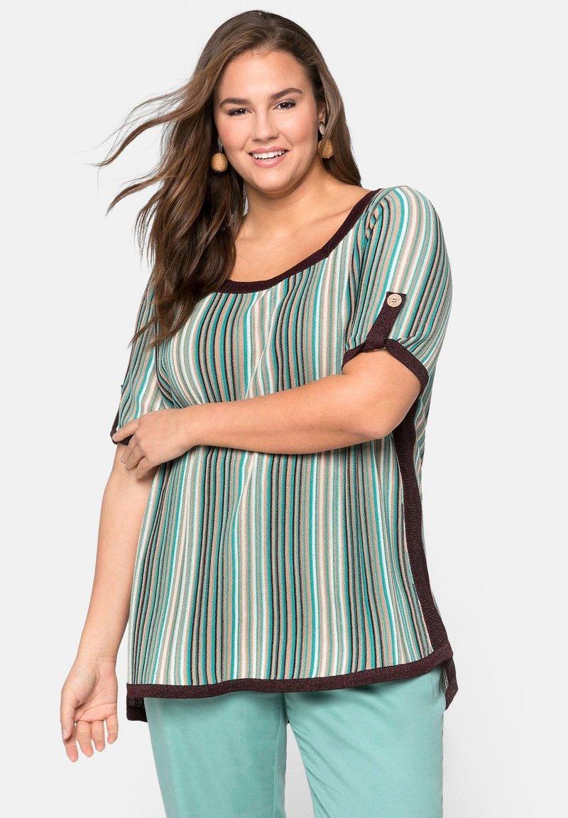 Sheego - Print T-shirt - green