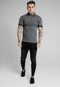 SIKSILK - OLD ENGLISH INSET - Poloshirt - dark grey marl - 1