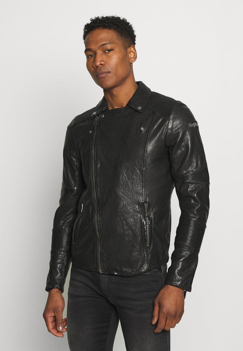 Tigha - ARNO - Leather jacket - black