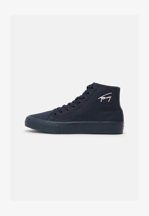 LONG LACE MIDCUT VULC  - High-top trainers - twilight navy