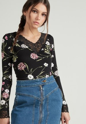 LONG SLEEVED - Blouse -  black wildflower print