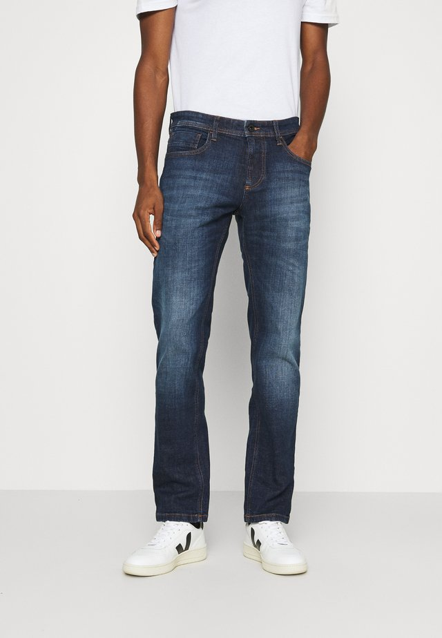 REGULAR - Jeans straight leg - dark blue used