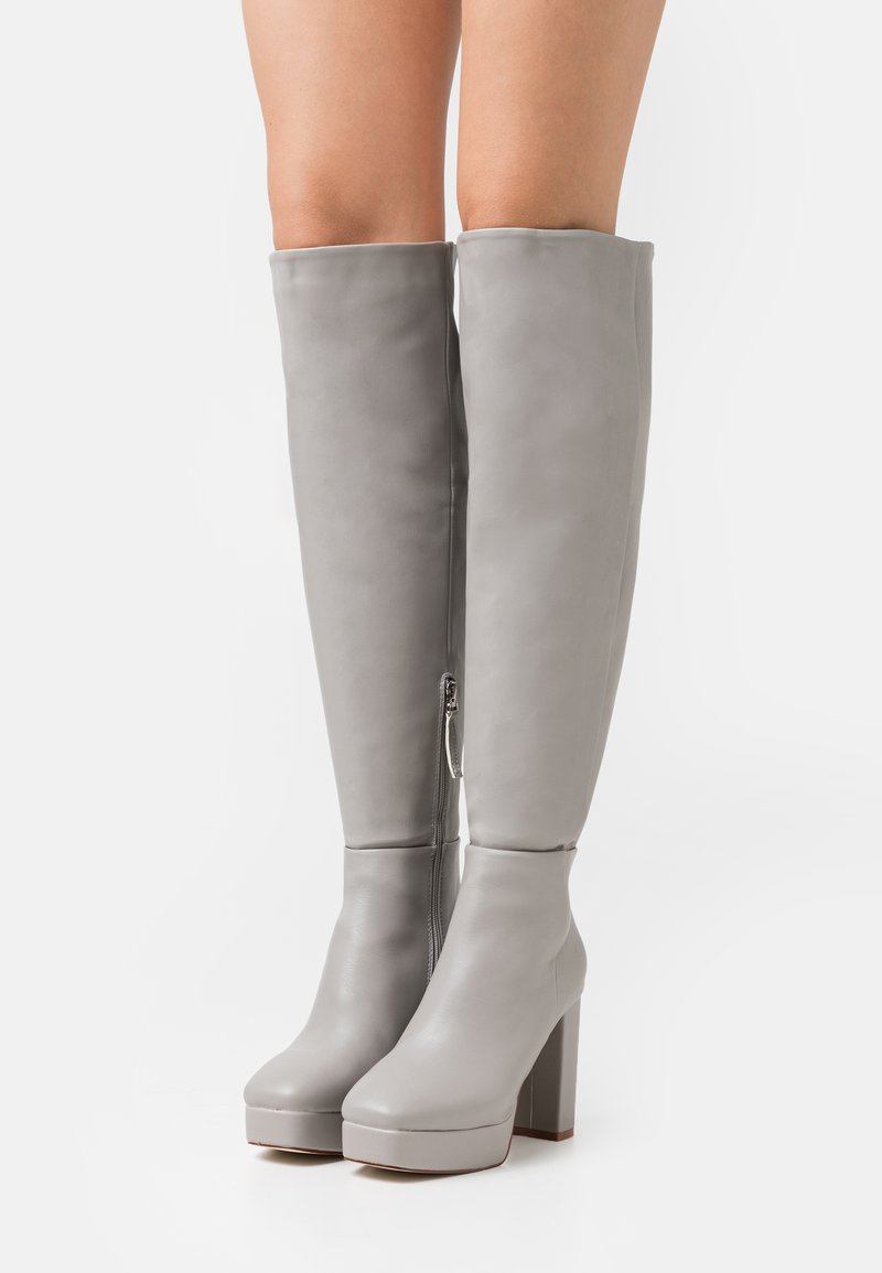 RAID Wide Fit - WIDE FIT CAROLINA - Over-the-knee boots - grey