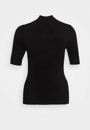 BRISBANE SHORTSLEEVE TURTLENECK - Print T-shirt - pure black