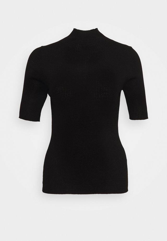 BRISBANE SHORTSLEEVE TURTLENECK - T-shirt print - pure black