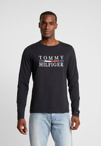 Tommy Hilfiger - LONG SLEEVE TEE - Long sleeved top - black - 0