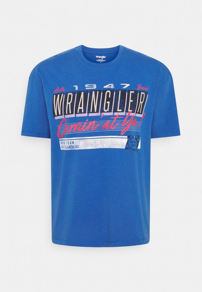 Wrangler - CAR TEE - Printtipaita - blue