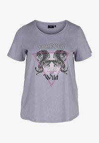 Zizzi - Print T-shirt - silver bullet acid - 0