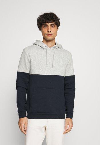 Hoodie - grey/blue