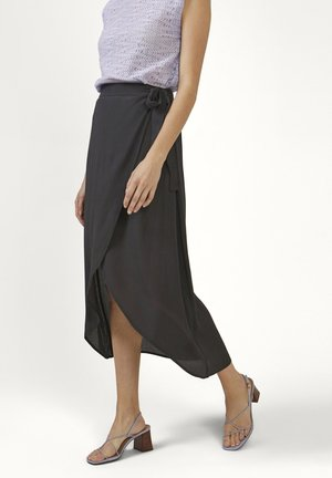MENDO - Wrap skirt - rocking grey