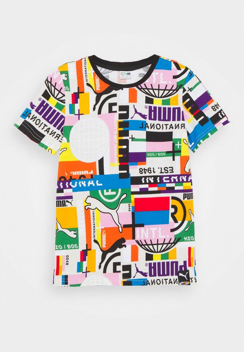 Puma - TEE UNISEX - T-shirt print - white