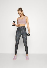 Even&Odd active - Leggings - black/rose/multicoloured - 1