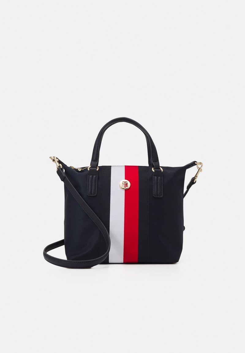 Tommy Hilfiger - POPPY SMALL TOTE CORP - Bolso shopping - blue