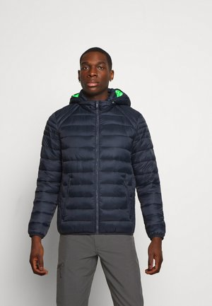 MAN JACKET ZIP HOOD - Zimní bunda - black blue
