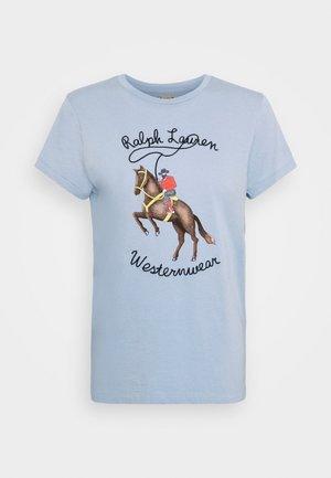 WSTRNWR SHORT SLEEVE - Print T-shirt - estate blue