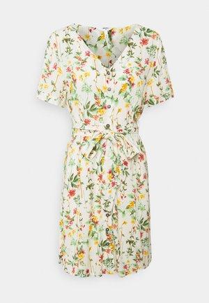 OBJLORENA SHORT DRESS  - Sukienka letnia - sandshell/alba
