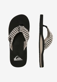 Quiksilver - MONKEY ABYSS - T-bar sandals - black/grey - 1
