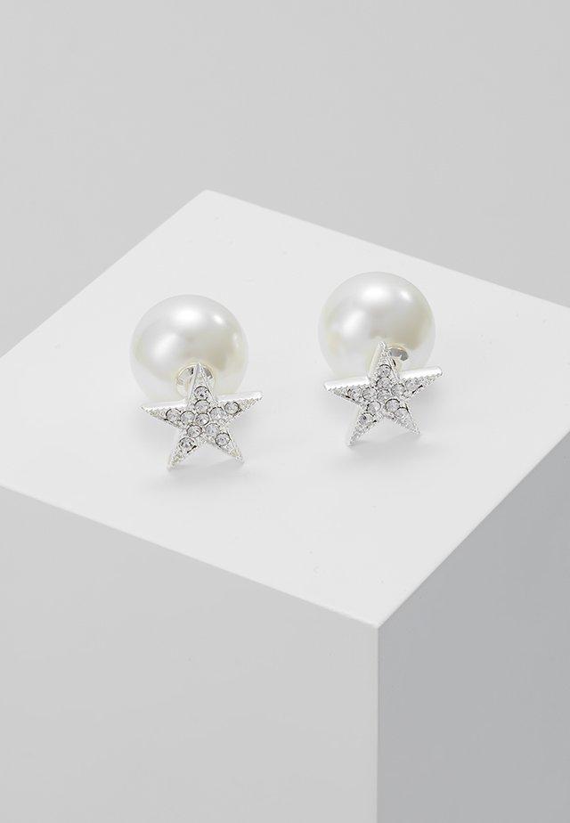 STAR PEARL DOUBLE - Earrings - clear