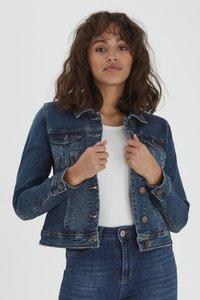 PULZ - Denim jacket - blue denim - 0