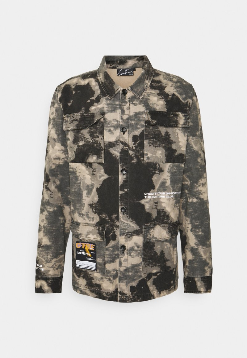 The Couture Club - WATERCOLOUR SHACKET - Denim jacket - multi-coloured