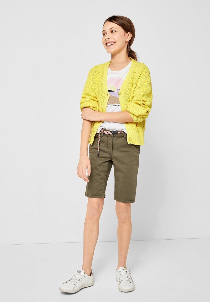 s.Oliver - MIT RIPPSTRUKTUR - Cardigan - light yellow