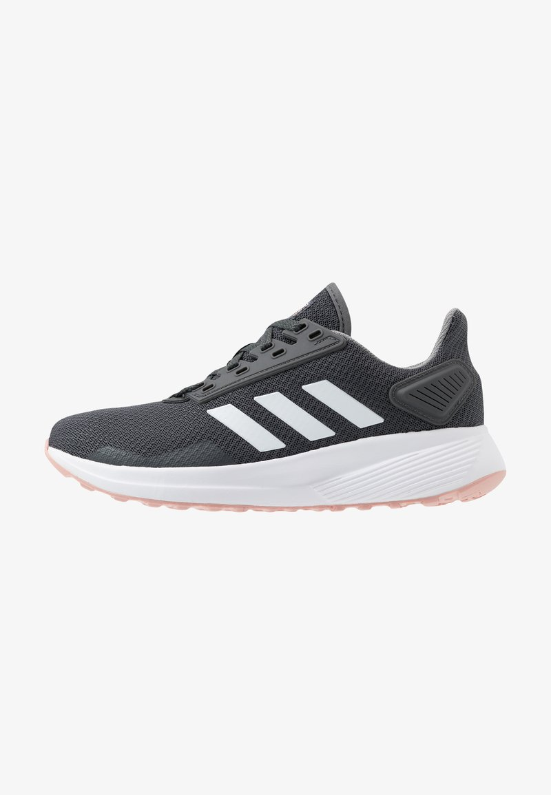 adidas Performance - DURAMO 9 - Neutral running shoes - grey six/footwear white/pink spice